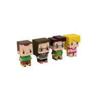 SD Toys - The Big Bang Theory pack 4 trading figurines Pixel Set 1 7 cm