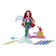 Poupée ariel coiffures creations salon ruban royal - disney princess