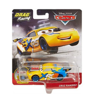 Voiture disney cars : drag racing cruz ramirez avec piston - vehicule miniature jaune - xtreme racing series